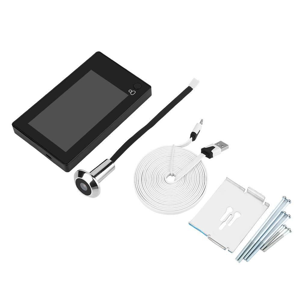 Kompatibel mit Einer T/ür mit Einer Dicke Wendry Digitaler T/ürspion-Viewer Hohe Aufl/ösung 4.3 Zoll LCD visuelle Monitor Wireless Viewer Indoor Monitor aus Robustem und Langlebigem ABS-Material
