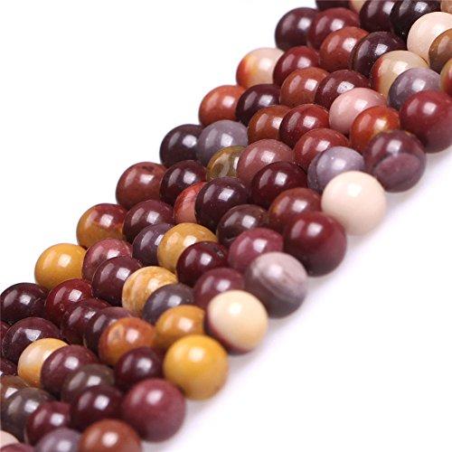 Mookaite Jasper Beads - Mookaite Jasper Beads for Jewelry Making Natural Gemstone Semi Precious 4mm Round 15