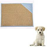 Hoxekle Bamboo Pet Dog Mat Summer Puppy Cooling Foldable Mat Pad Bed Blanket for Keeping Pets Cool in Summer, 1pcs
