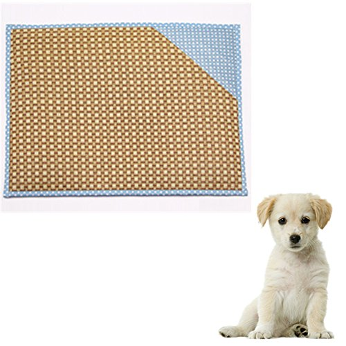 Hoxekle Bamboo Pet Dog Mat Summer Puppy Cooling Foldable Mat Pad Bed Blanket for Keeping Pets Cool in Summer, 1pcs by Hoxekle (Image #1)