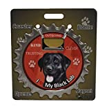 I Love My Black Lab 3 in 1 Coaster, Bottle Opener and Magnet