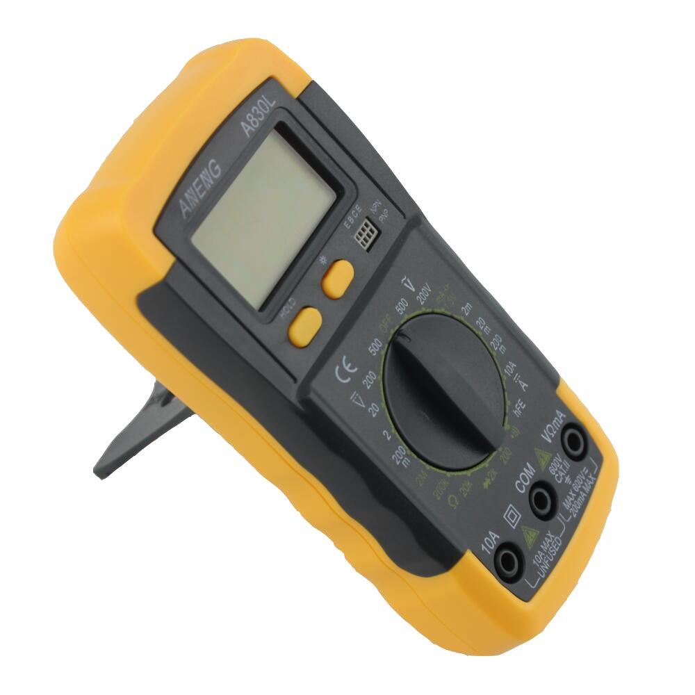 LCD Multimetro Digitale Dc Tensione Alternata Multi-tester A830l Giallo Con Il Nero