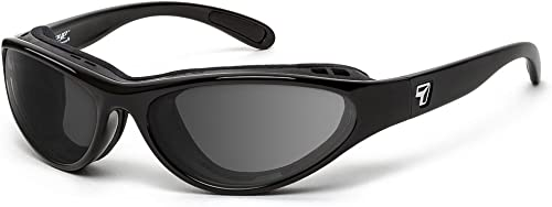 7eye by Panoptx Viento Wind Blocking Sunglasses – Glossy Black, Photochromic Clear to Gray Lenses