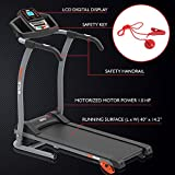 Hurtle Electric Folding Treadmill Exercise Machine - Smart Compact Digital Fitness Treadmill Workout Trainer w/Bluetooth App Sync, Manual Incline Adjustment, for Walking, Running, Gym HURTRD18