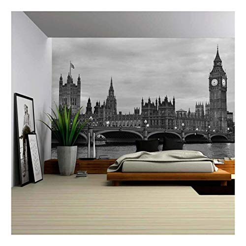 wall26 - Westminster Bridge with Big Ben in London,...