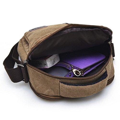 Männer Und Frauen Vintage-Leinwand Messenger Ipad Schulter Tote Schulranzen Sport Tasche,A-20cm*10cm*28cm