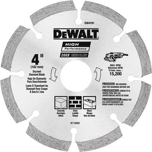 Disco de Diamante DEWALT DW4783 segmentado HP de 5 pulg.