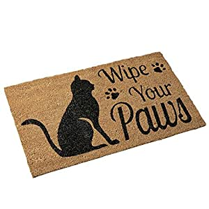 Pet Wipe Your Paws Coco Door Mat, Cat