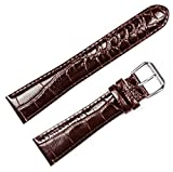 Crocodile Grain Watchband - Brown 20MM