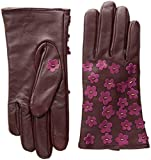 Echo Women's Blossom Applique Leather Touch Technology Glove, port, Medium