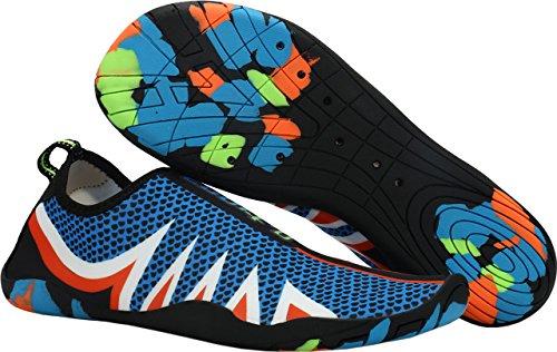 e7f90a5038c Sports Surf Aquatiques Chaussons D eau Plage Été De Homme blue Pour Et Bleu Piscine  Chaussures Gaatpot Femme Tongs qCnUEn