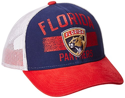 fan products of NHL Florida Panthers Men's SP17 City Name Trucker Cap, Navy, One Size