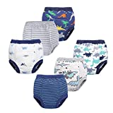 BIG ELEPHANT Unisex-Baby Toddler Potty 6 Pack Cotton Pee Training Pants Underwear: more info