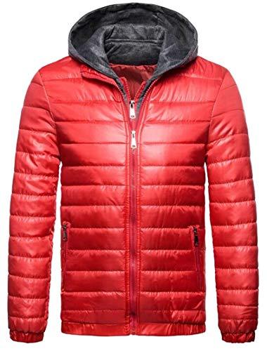 Puffer TTYLLMAO Men's Red Lightweight Jacket Hoodie Ultra Down Packable xUAUXwpPq