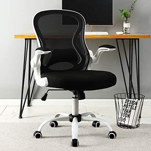 BERLMAN Ergonomic Mid Back Mesh Office Chair Desk Chair