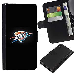 Oklahoma Baloncesto - la tarjeta de Crédito Slots PU Funda de cuero Monedero caso cubierta de piel Para Sony Xperia Z2 D6502