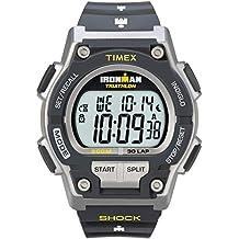 Timex Men's T5K195 Ironman Original 30 Shock Full-Size Black/Yellow Resin Strap Watch