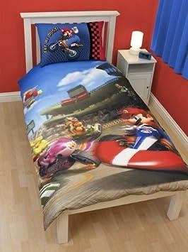 linge de lit mario bros Parure housse de couette Linge de maison Super Mario Bros Kart Lit  linge de lit mario bros
