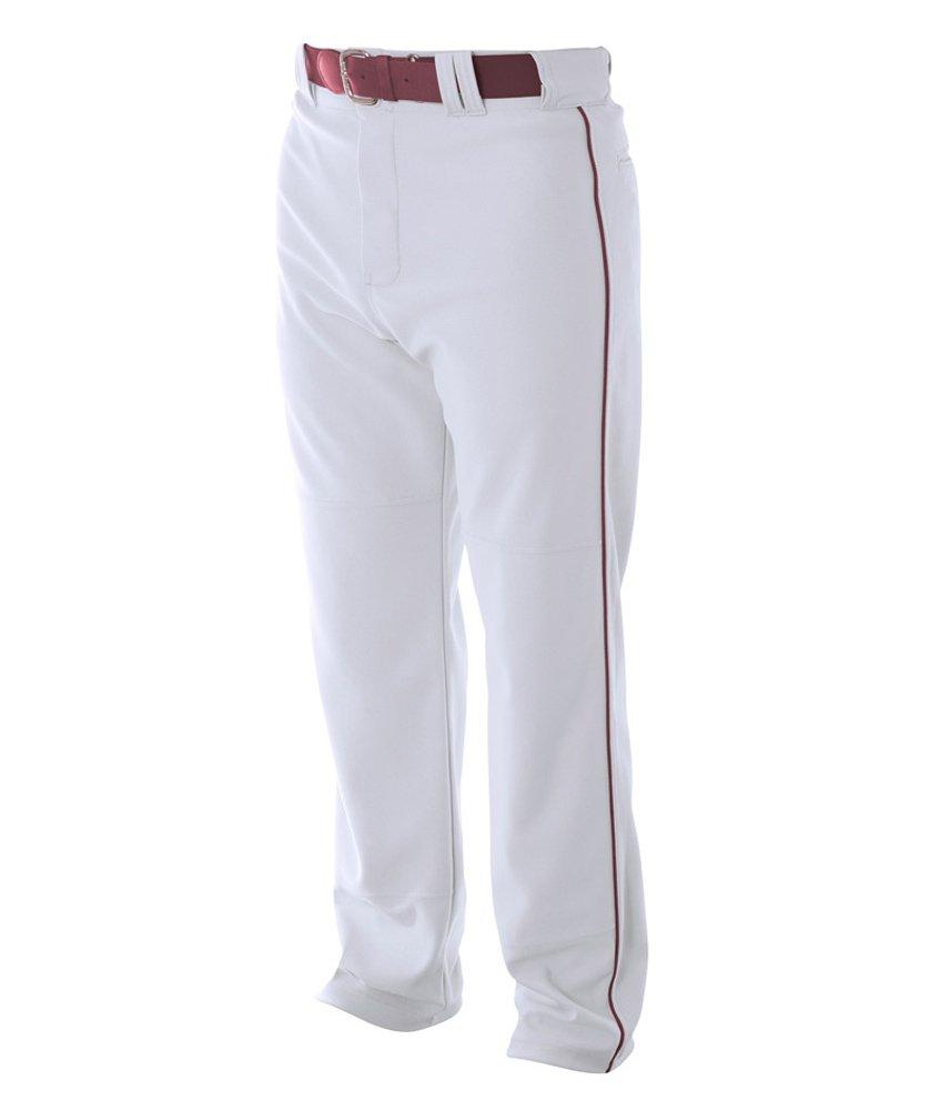 A4 野球用 バギーパンツ メンズ プロ仕様 パイピング入り B00BPXQ8KC 3L|White/ Cardinal White/ Cardinal 3L