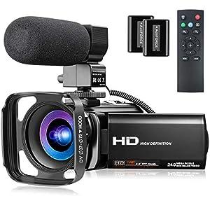 Flashandfocus.com 51Abl6QYvJL._SS300_ Video Camera Full HD 1080P 30FPS 24MP YouTube Camera Camcorder 3.0 Inch 270° Rotation IPS Screen 16X Digital Zoom…