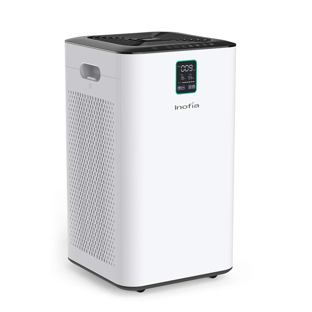 Inofia Air Purifier with True HEPA Air Filter, Wi-Fi Intelligent Control, Air Cleaner for Large Room, for Spaces Up to 1056 Sq Ft, Perfect for Home Office with 2 Filters