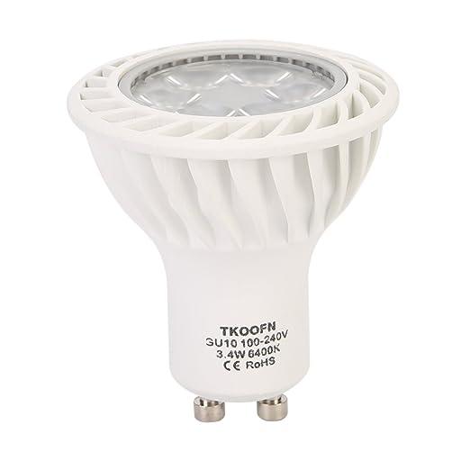 Equivalenza Lampade Led E Incandescenza.Tkoofn Lampadina Spot Led Standard Attacco Gu10 3 4 Watt