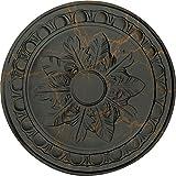 Ekena Millwork CM17EXWHC Exeter Ceiling Medallion, Witch Hazel Crackle