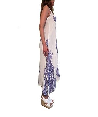 a8eb59e5acfd Summer Goddess Elegant Bohemian Beige Spaghetti Strap Maxi Dress (Small)
