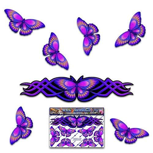 Pegatina animal púrpura de la etiqueta de la pequeña mariposa de la mariposa para las caravanas del coche Camiones y barcos ST00021PL_SML - Pegatinas de JAS: Amazon.es: Handmade