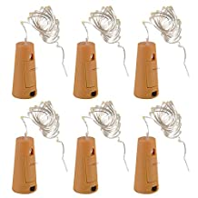 XCSOURCE 6pcs 1m 20 LED Cork Shaped LED Night Starry Light Copper Wire Stopper Wine Bottle Lamp Party Decoration for Wedding Xmas Warm White LD959