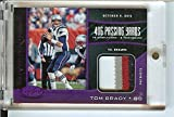 Football NFL 2017 Certified Fabric of the Game Prime #10 Tom Brady MEM 9/10 Patriots