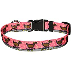 """Yellow Dog Design Skateboard Life Dog Collar with Tag-A-Long ID Tag System-Medium-1"""" and fits Neck 14 to 20"""""""