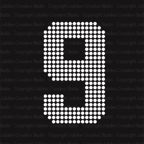 large iron on numbers - 6