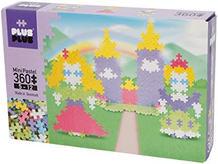 PLUS PLUS - Instructed Play Set - 360 Piece Princess Castle - Construction Building Stem/ Steam Toy Interlocking Mini Puzzle Blocks for Kids