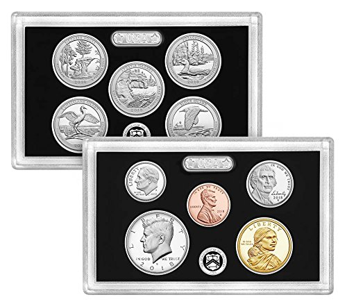 2018 S US Silver Proof Set Beautiful Cameo Finish Proof (2018 Coin Proof Set)