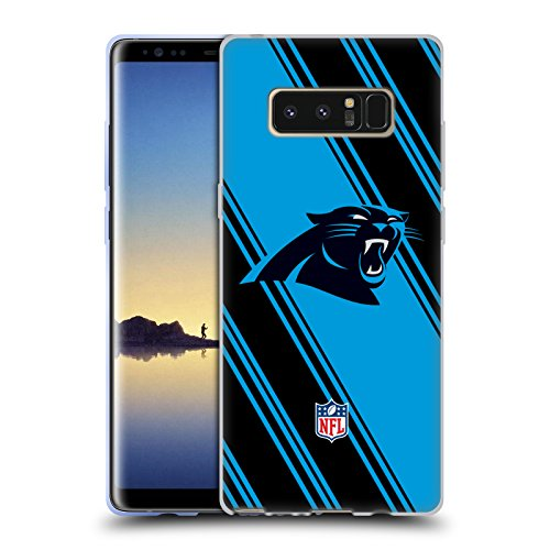 Official NFL Stripes 2017/18 Carolina Panthers Soft Gel Case for Samsung Galaxy Note8 / Note ()