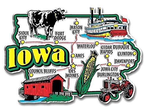 Iowa Jumbo State Map Fridge ()