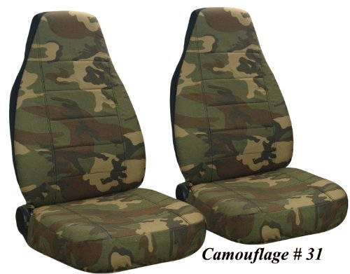 Army Camo Camo 31 Front Set Seat Covers 97 02 Jeep