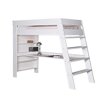 Extrem Hochbett JULIEN Schreibtisch Kinderbett Leiter Kinderzimmer Bett JJ95