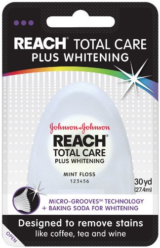 REACH Total Care Plus Whitening Floss, Mint, (Pack of 6) by Reach