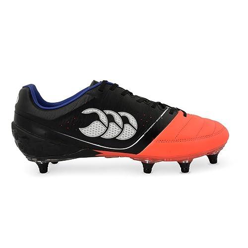 Canterbury Phoenix Elite 8 Stud, Botas de Rugby para Hombre, Negro (98A Black/Firecracker), 39 EU: Amazon.es: Zapatos y complementos