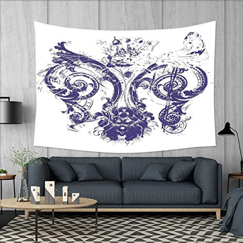 smallbeefly Fleur De Lis Customed Widened Tapestry Digital G