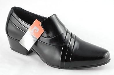 504ff93fecbe Mens Pierre Cardin Cuban Heels Black Leather Slip On Shoes Size 6 ...