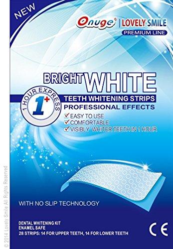28 Whitestrips Onuge | beau sourire de qualité professionnelle avec Advanced Technology Non Slip