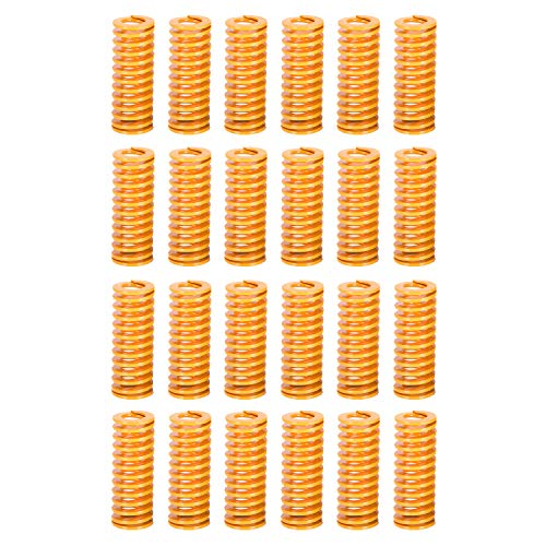 Kasteco 24 Pack 8mm OD 20mm Long Light Load Compression Mould Die Spring Yellow with Storage Box ()