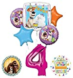 Mayflower Products Secret Life of Pets Party Supplies 4th Birthday Balloon Bouquet Decorations