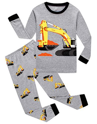 Family Feeling Little Boys Construction Pajamas Sets 100% Cotton Toddler Kid 4T -