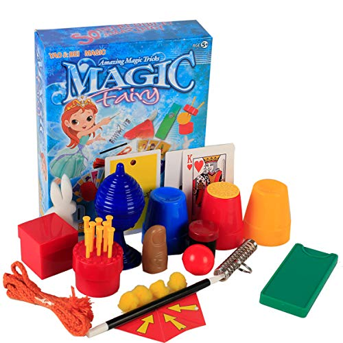 Magic Trick Set Kit Box, Suitcase Include Wand Cards 8 Ball Costume Explore Science Prank Fort Game Toys Gift Stuff For Boys Girls Kids 5 6 7 8 9 10 11 12 Up And Adult Magician