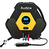 AUDEW Air Compressor, Auto Digital Tire Inflator, 12V 150 PSI Tire Pump, 3 in 1 Portable Tire Compressor for Car, Truck, Bicycle, RV and Other Inflatables