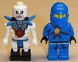 NEW 2 Lego Ninjago Minifigures Jay & Krazi BLUE NINJA & SKELETON MINIFIGS